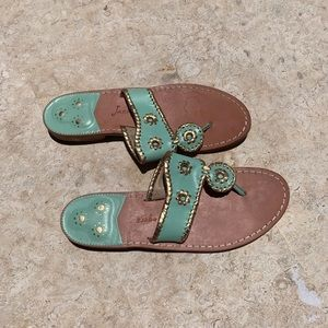 Jack Rogers Shoes - Light green and gold Jack Rogers sandals